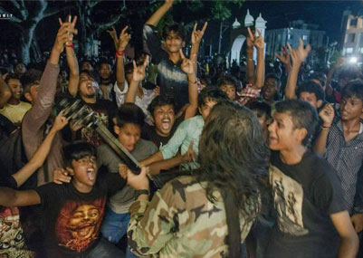 Rocking Performance from the Metal Band SHRAP in Jalpaiguri