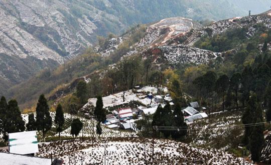 Darjeeling During Hailstrom