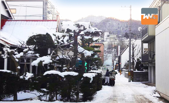 Snowy Sapporo, Japan