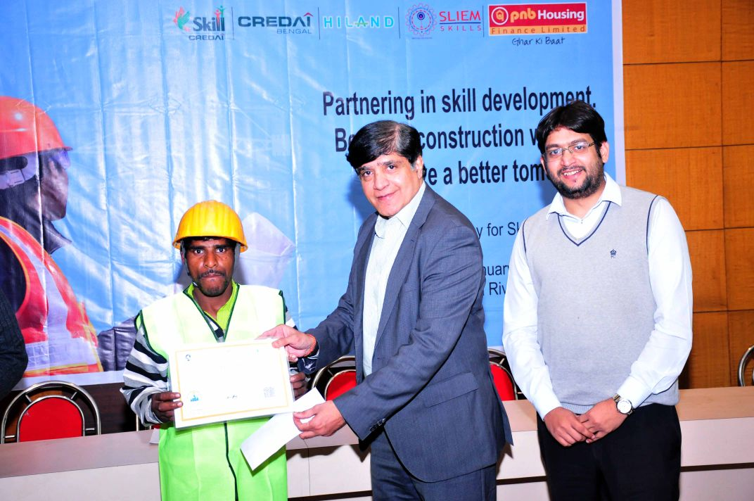 Credai Bengal conducted  Skill Development Programme for Construction  Workers
