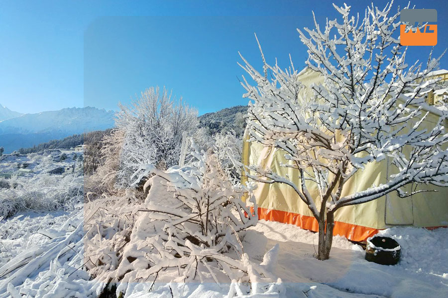 Auli, Uttarakhand During Snow Strom
