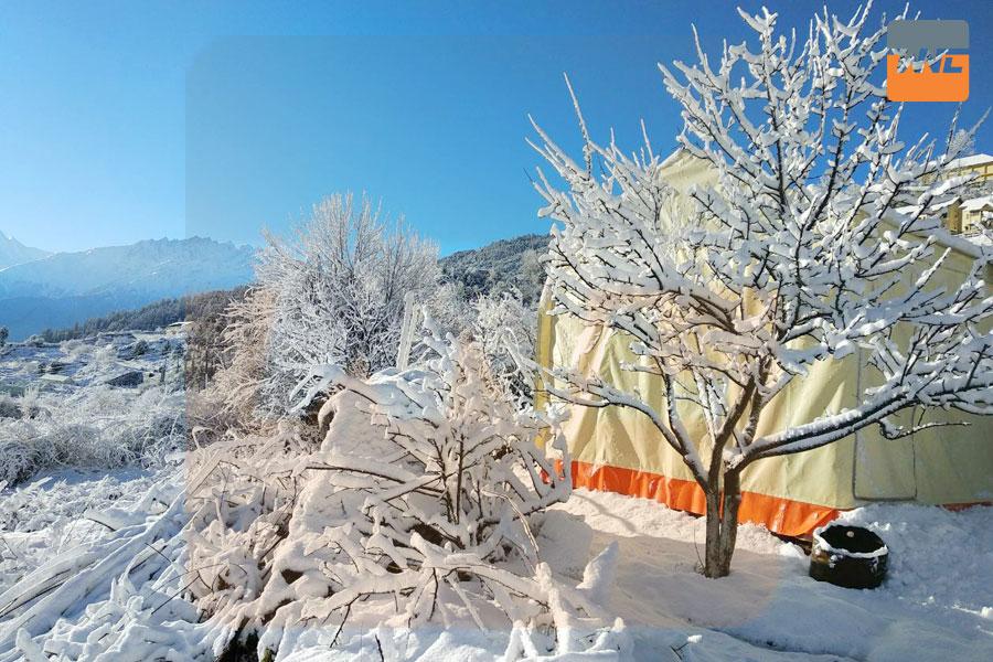 Auli, Uttarakhand During Snow Strom