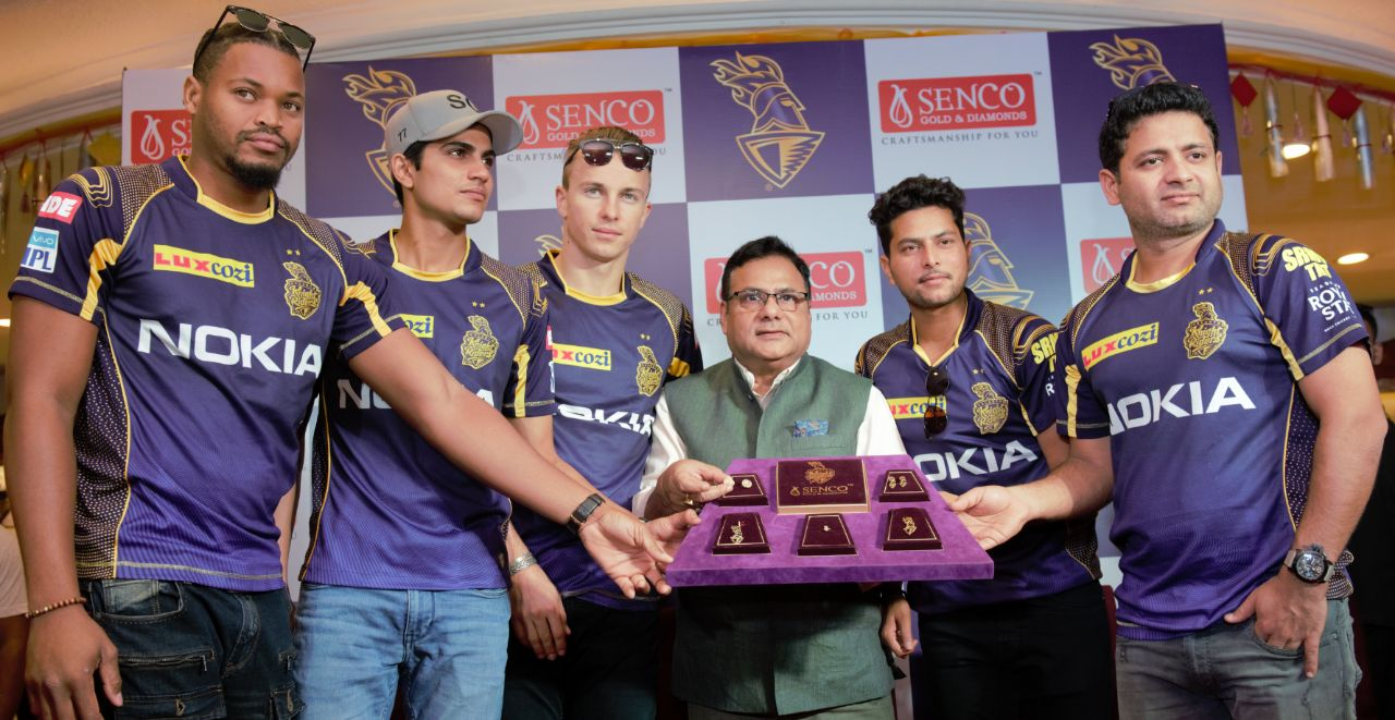 Senco Gold & Diamonds launches the all new 'Men's Sports Collection' dedicated to KKR fans