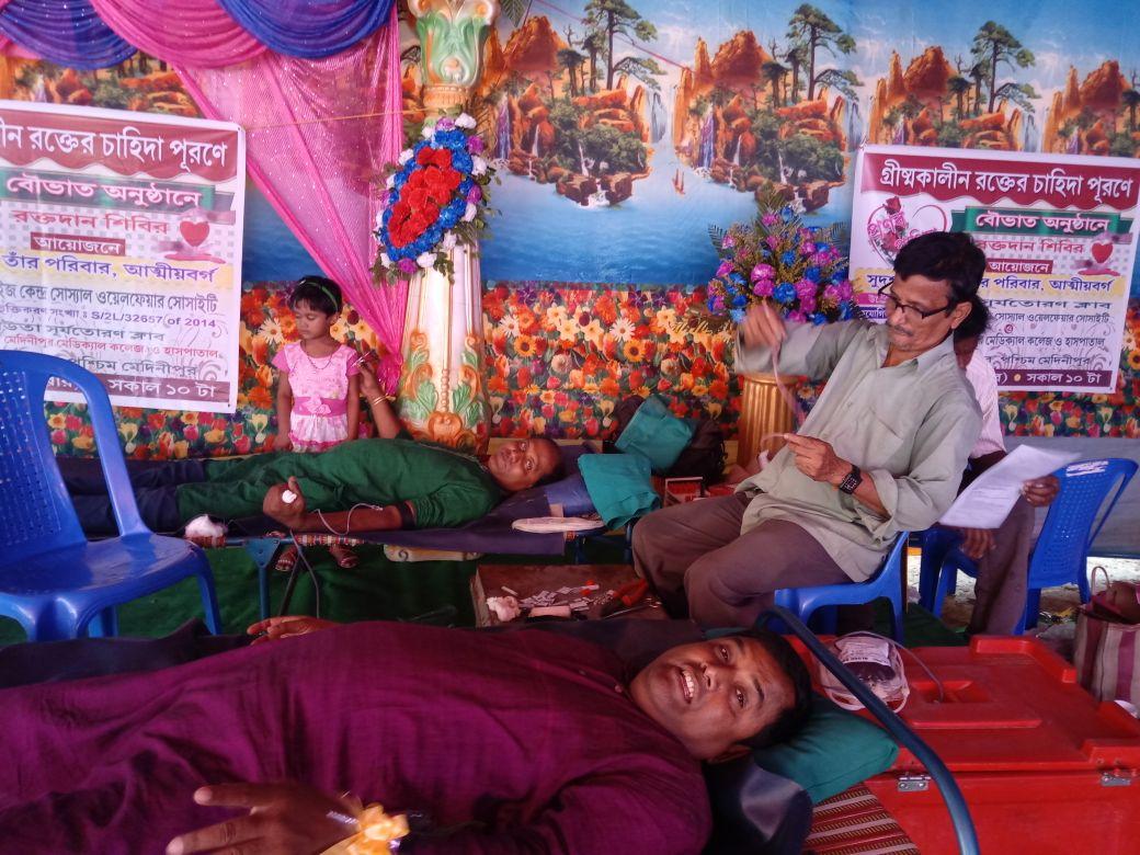 কেশপুরে অনন্য নজির, বৌভাতে রক্তদান শিবির