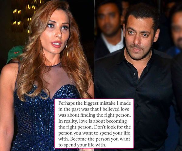 Iulia Vantur dropping hints about her relationship with Salman Khan?