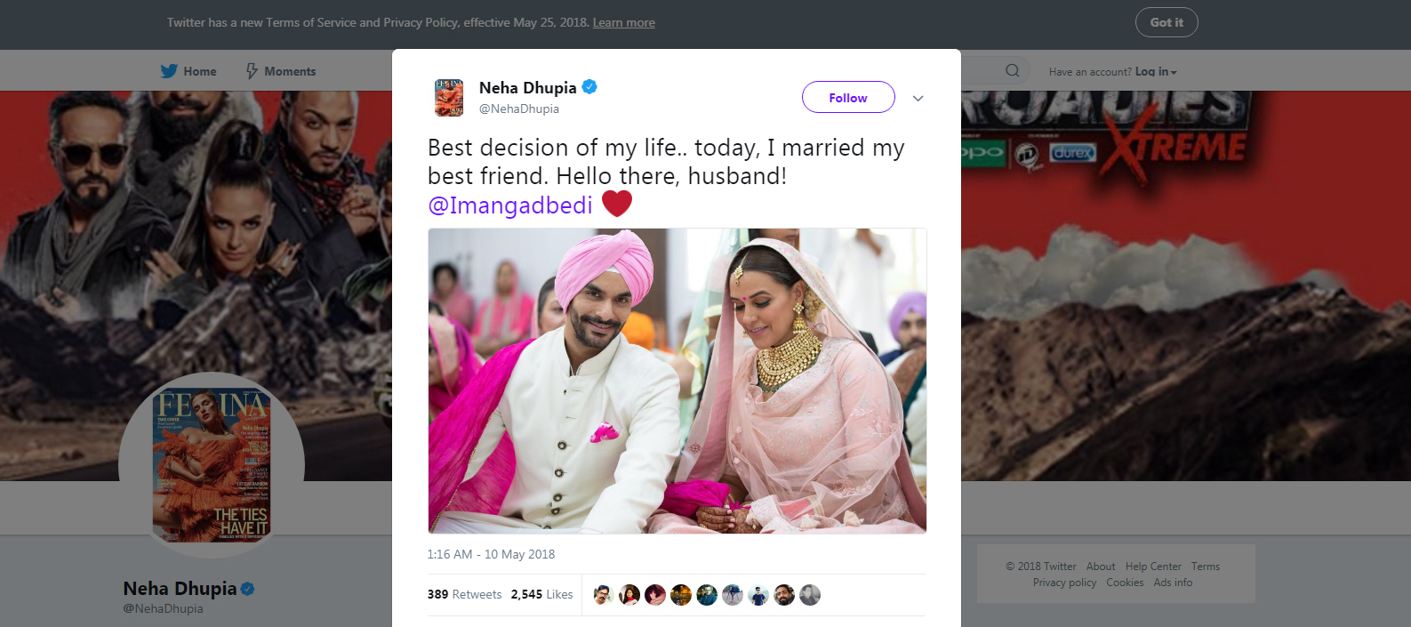Neha and Angad are now husband and wife
