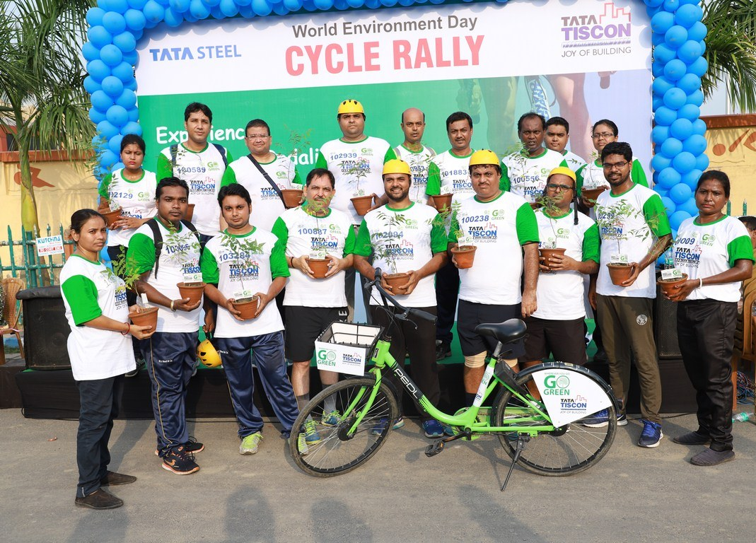 TATA Tiscon in association with PEDL – Zoomcar organised a Cycle Rally on the World Environment Day
