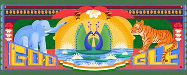 স্বাধীনতা দিবসে নজর কাড়ল গুগল ডুডল