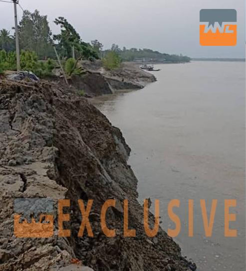 সুন্দরবনের পিচাখালি নদীর বাঁধ ভেঙে বিপত্তি, দ্রুত মেরামতের চেষ্টা