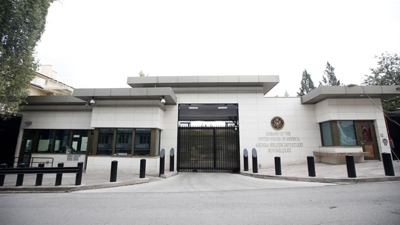 Shots fired at US embassy in Ankara amid deepening row international