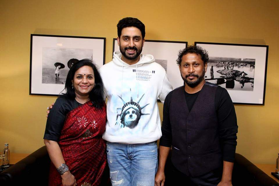 Abhishek Bachchan engaged in a candid conversation with eminent film director Shoojit Sircar