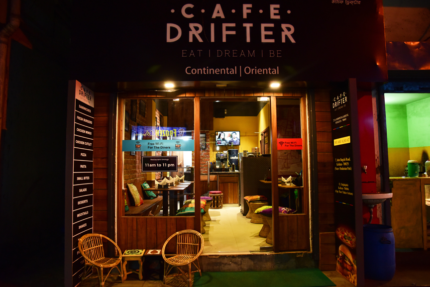 CAFÉ DRIFTER have recently launched their third outlet in the by-lanes of Jodhpur Gardens