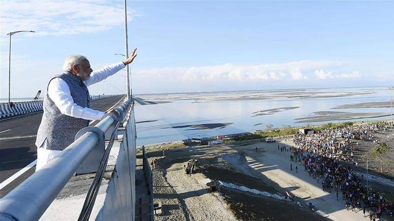 longest road-rail bridge opened near China border