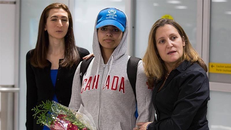 Canada welcomes Rahaf Alqunun