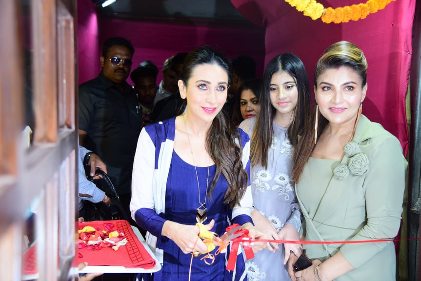 Karisma Kapoor launches The Soumi's World Family Salon Cum Clinic at Barasat