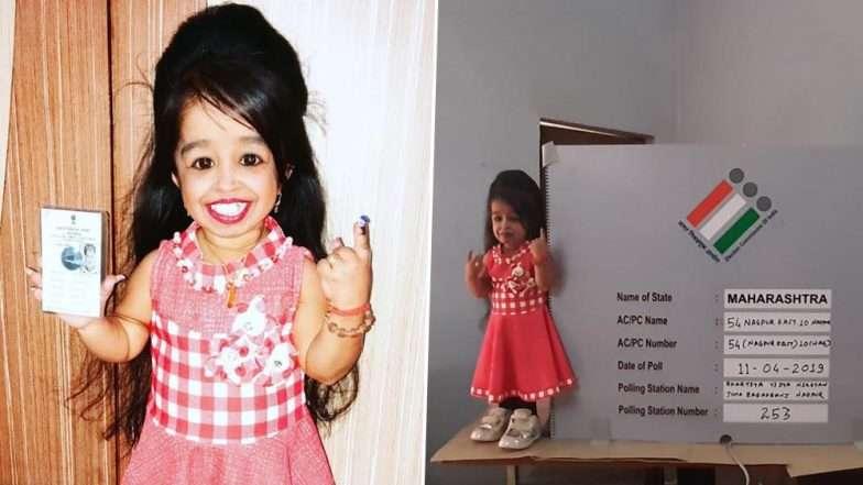 নাগপুর থেকে ভোট দিলেন বিশ্বের সবচেয়ে ছোট নারী