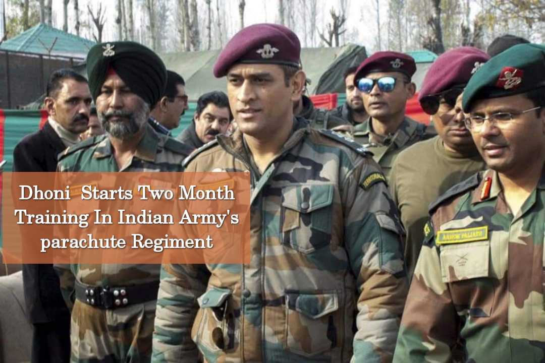 Dhoni  Starts Two Month Training In Indian Army's parachute Regiment