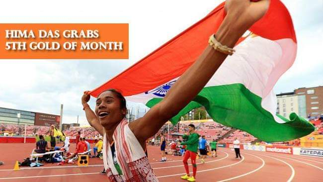Assam Girl, Hima Das Is A Blur Of Gold In the International Track