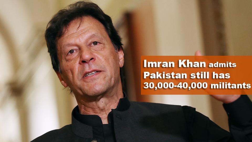 এখনো পাকিস্তানে রয়েছে ৩০-৪০ হাজার উগ্রপন্থী : ইমরান খান