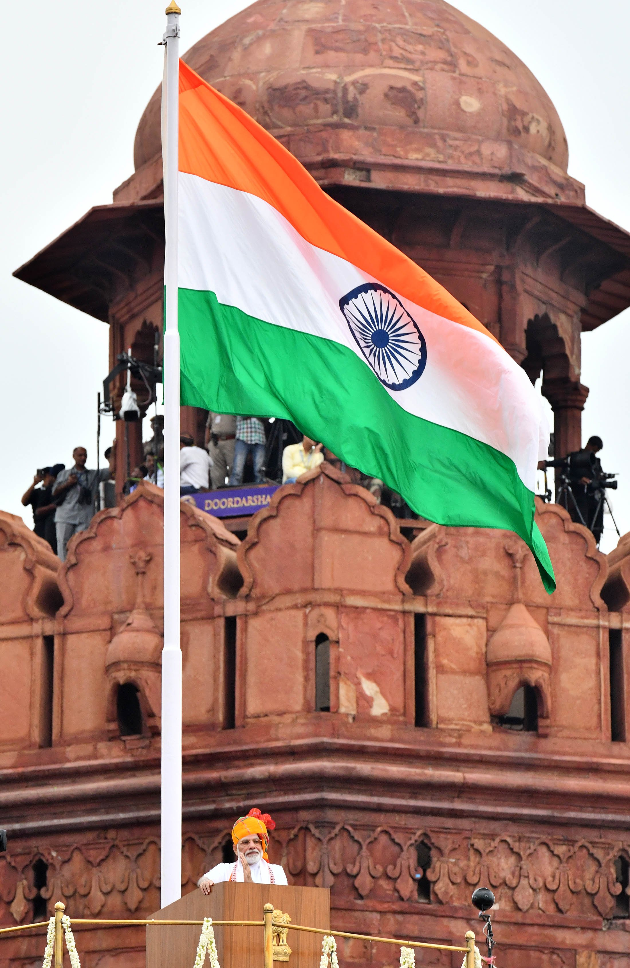From Delhi Red Fort on 73rd Independence Day