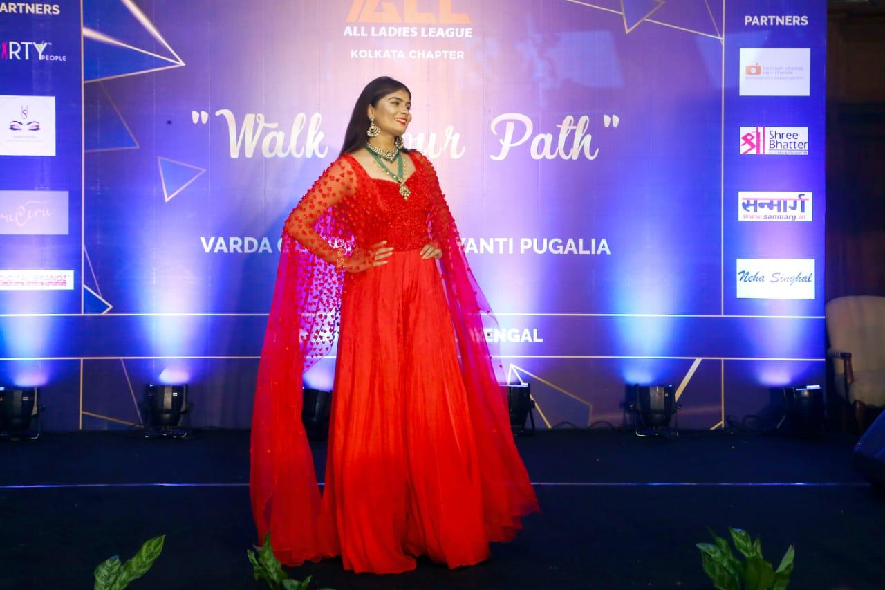 Aakanskha Manglani walks as a showstopper for All Ladies League