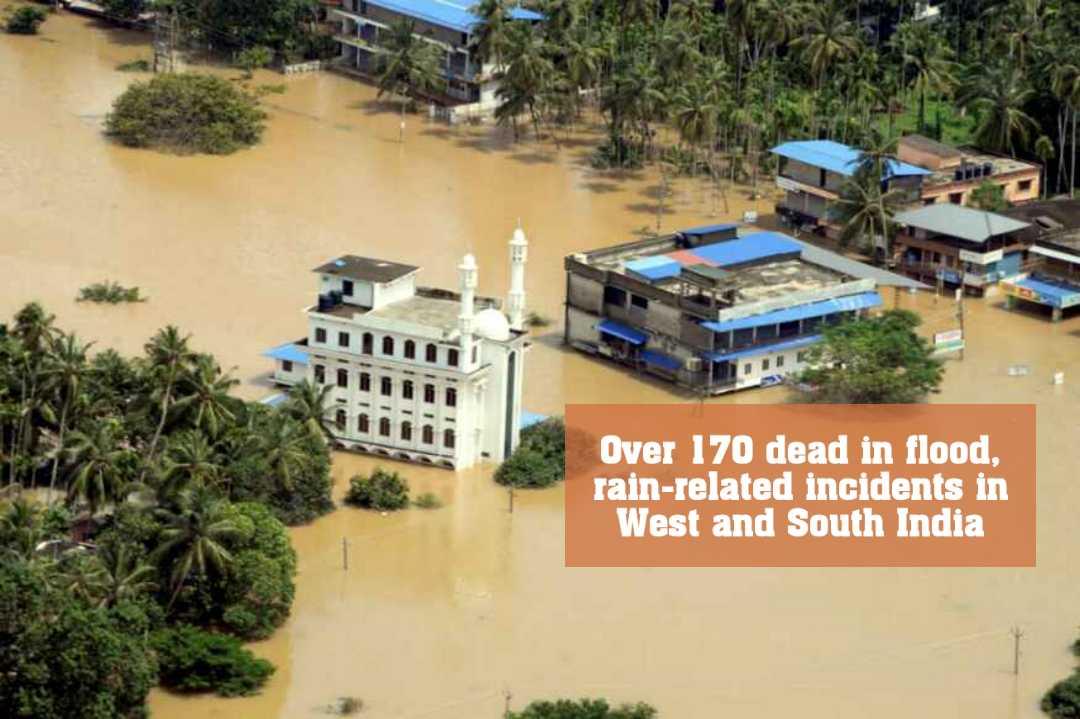 বন্যায় দক্ষিণ এবং পশ্চিম ভারতে প্রায় ১৭০ জন নিহত