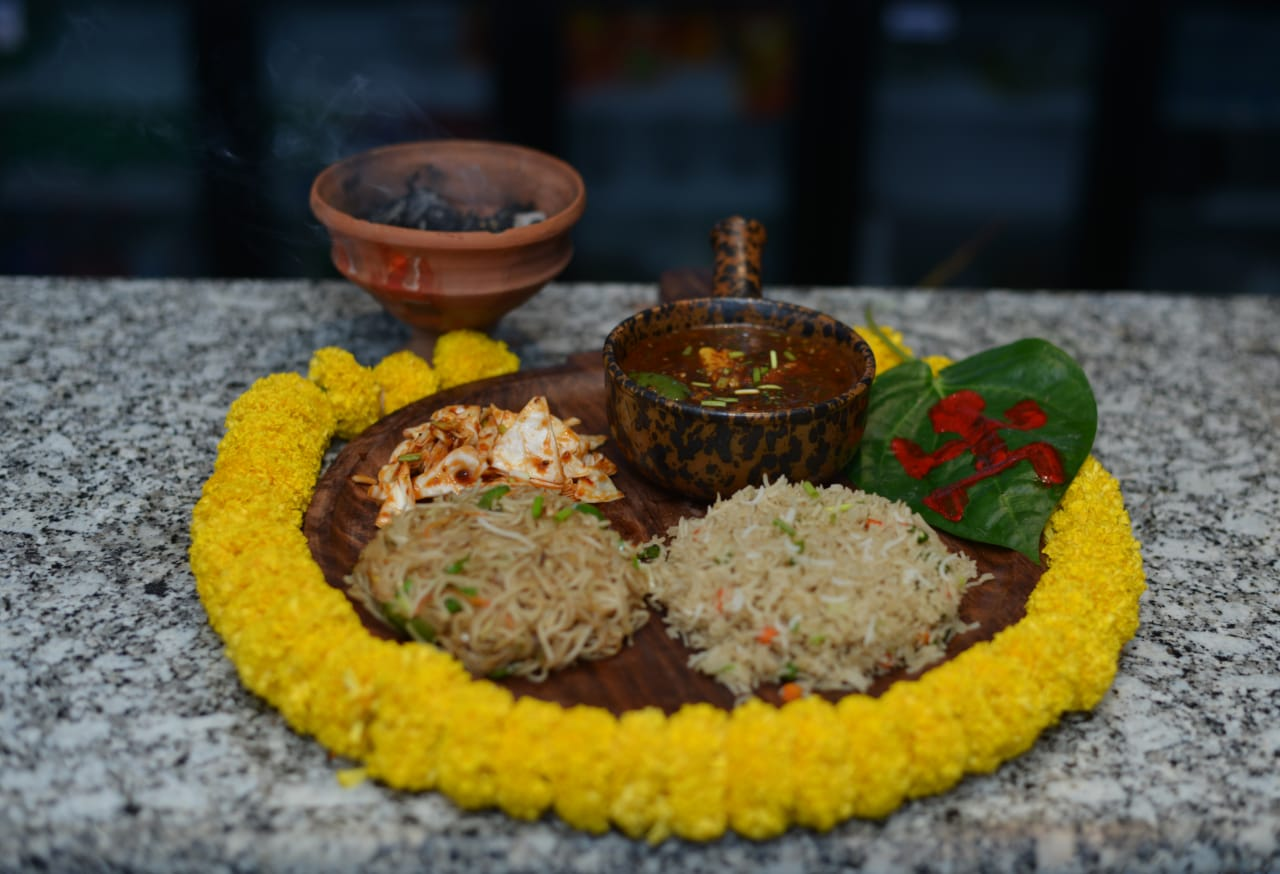 Puja offerings : Soul The Sky Lounge