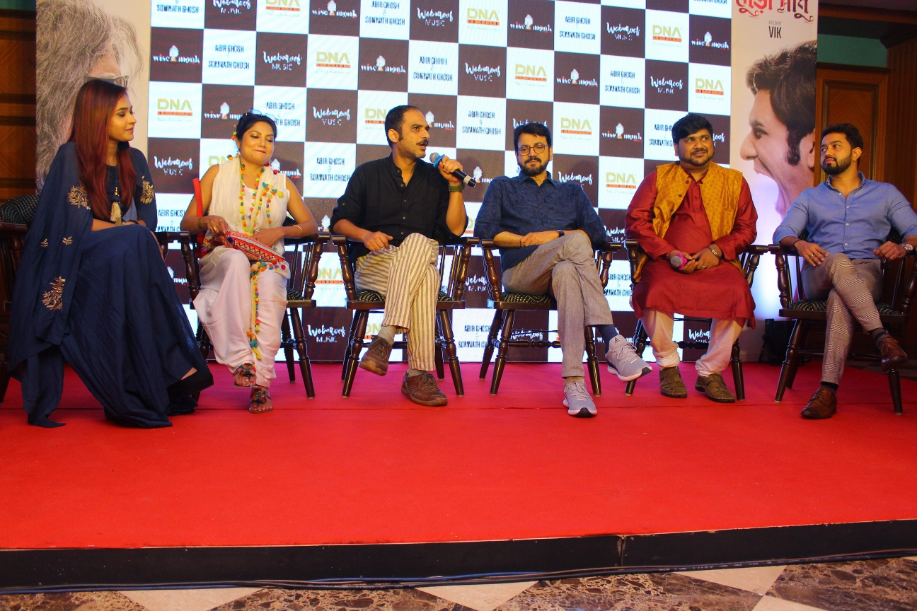 Actors Chiranjeet Chakraborty and Ritwick Chakraborty unveil the trailer of Buro Sadhu