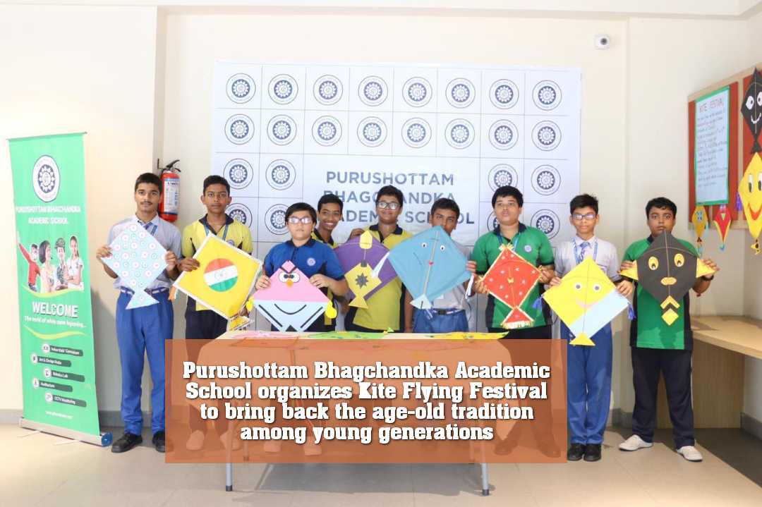 Purushottam Bhagchandka Academic School organizes Kite Flying Festival to bring back the age-old tradition among young generations