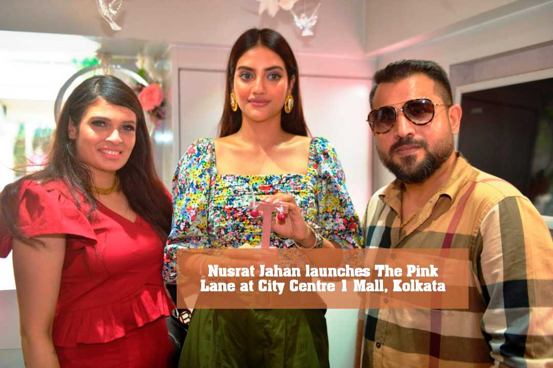 Nusrat Jahan launches The Pink Lane at City Centre 1 Mall, Kolkata