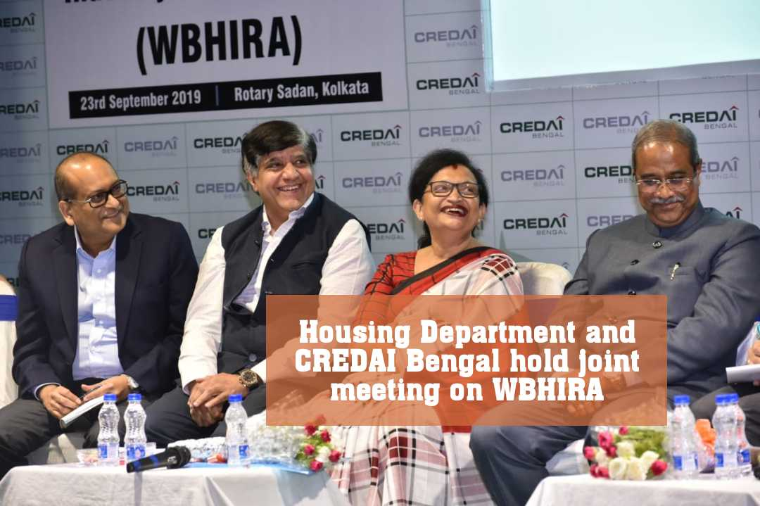 Housing Department and CREDAI Bengal hold joint meeting on WBHIRA