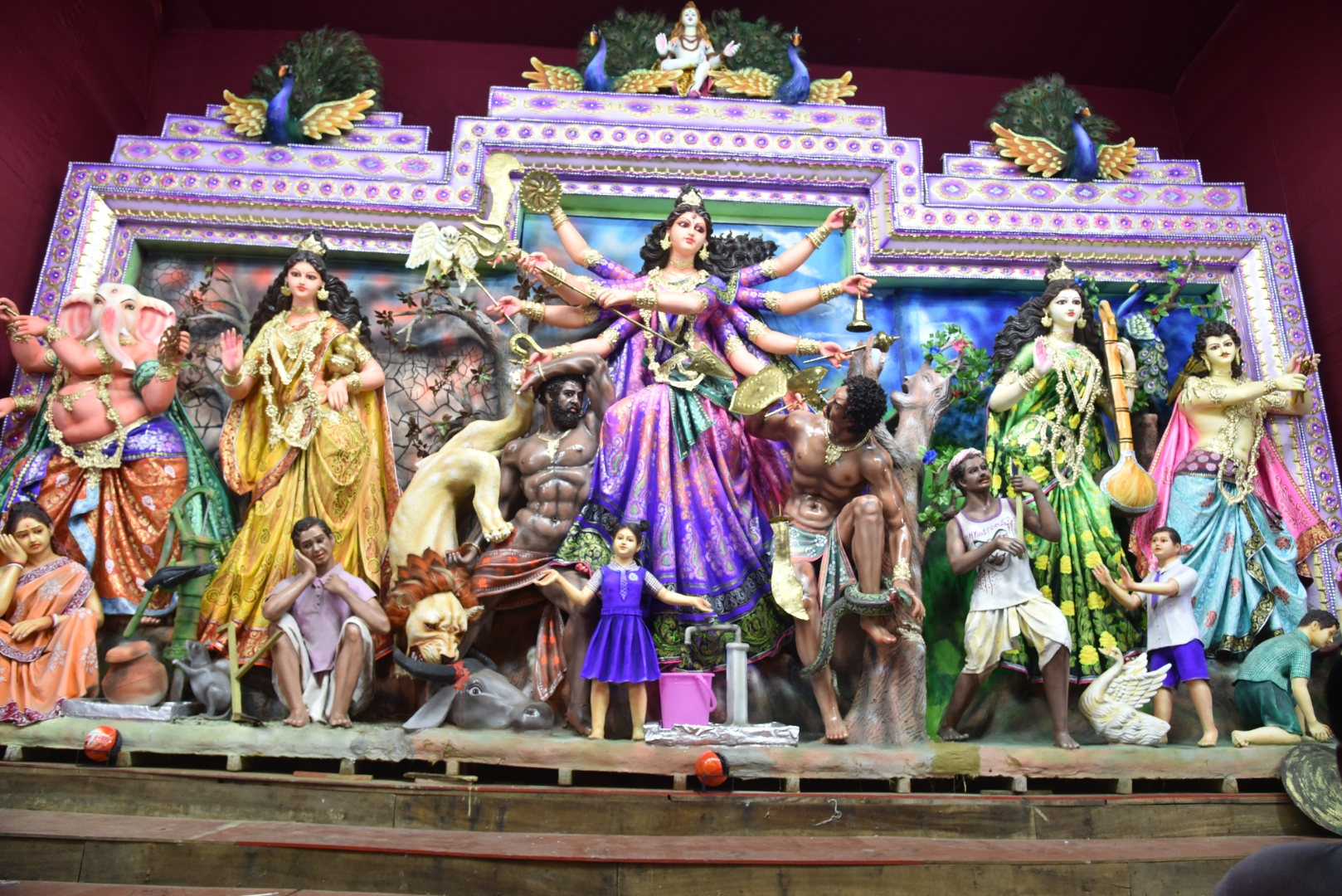 Youth Association of Md. Ali Park Celebrates 51st Year with the Theme Murugan Temple of Kerala