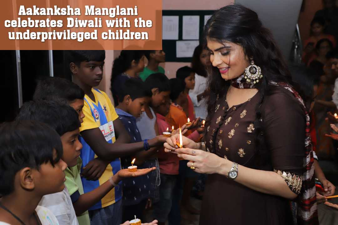 Aakanksha Manglani celebrates Diwali with the underprivileged children