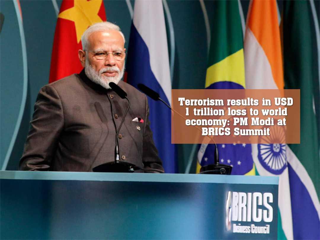 সন্ত্রাসবাদের কারণে বিশ্ব অর্থনীতির ১ ট্রিলিয়ন ডলার ক্ষতি হয়েছে : মোদী