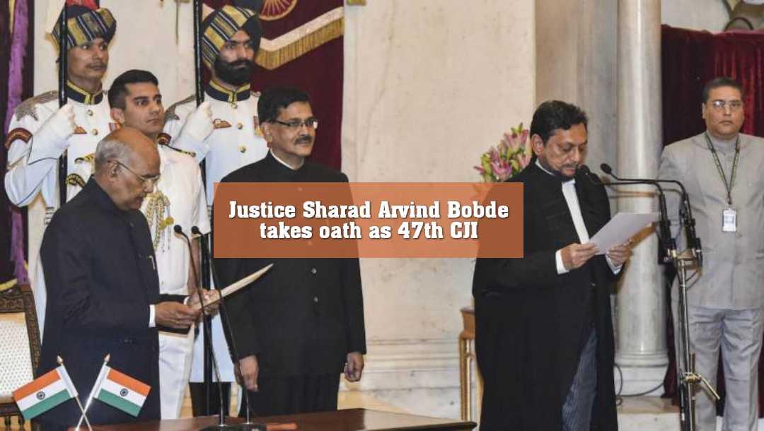 ৪৭তম প্রধান বিচারপতি হিসেবে শপথ নিলেন শরদ অরবিন্দ বোবদে