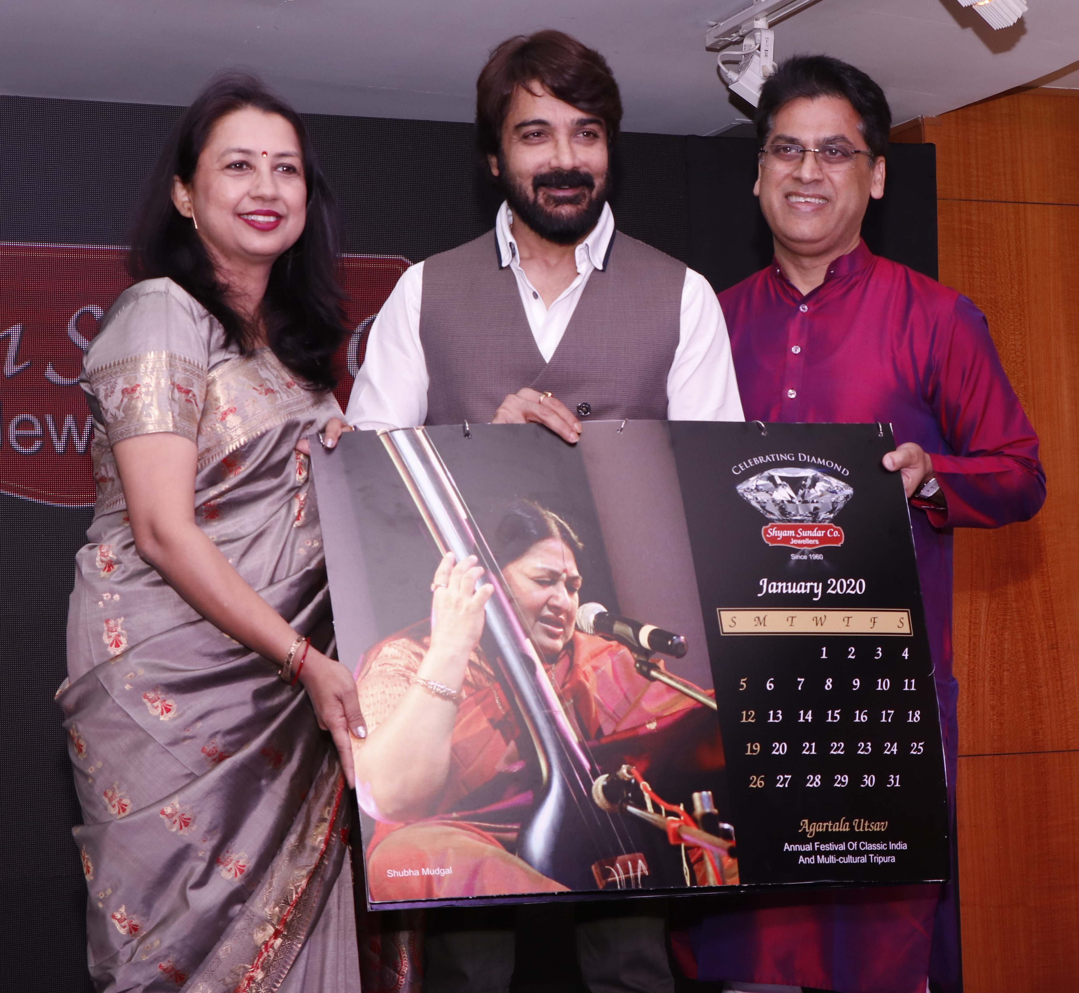 Superstar Prosenjit Chatterjee unveils Shyam Sundar Co. Jewellers' exclusive calendar
