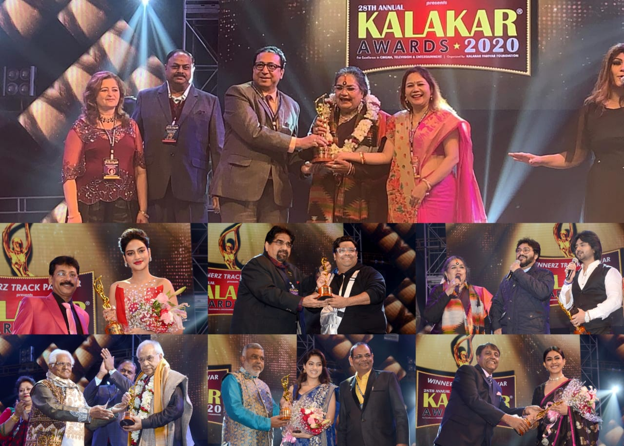 28th Annual KALAKAR AWARDS 2020 Ceremony at Science City Auditorium, Kolkata
