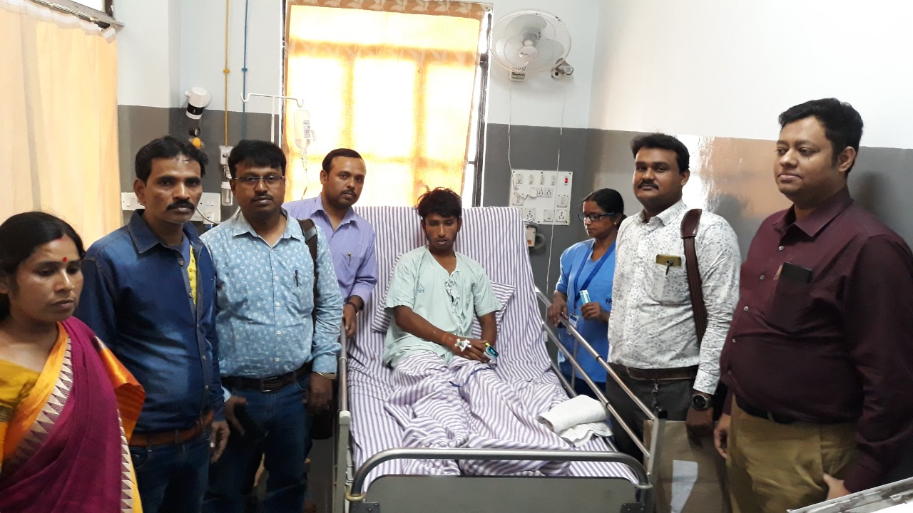 Narayana Multispeciality Hospital arranged for the boy to be able to write his Madhyamik paper in the hospital