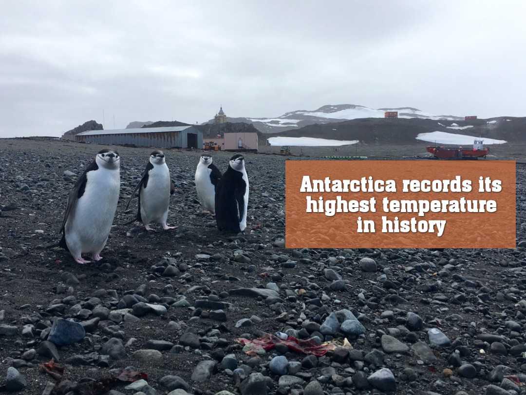 অ্যান্টার্কটিকার ইতিহাসে সর্বোচ্চ তাপমাত্রার রেকর্ড