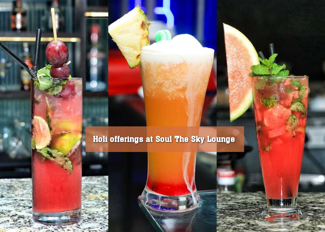Holi offerings at Soul The Sky Lounge