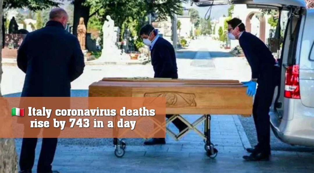 🇮🇹 ইতালিতে ২৪ ঘণ্টায় আরও ৭৪৩ জনের মৃত্যু