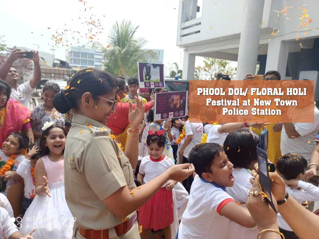 PHOOL DOL/ FLORAL HOLI Festival  at New Town Police Station