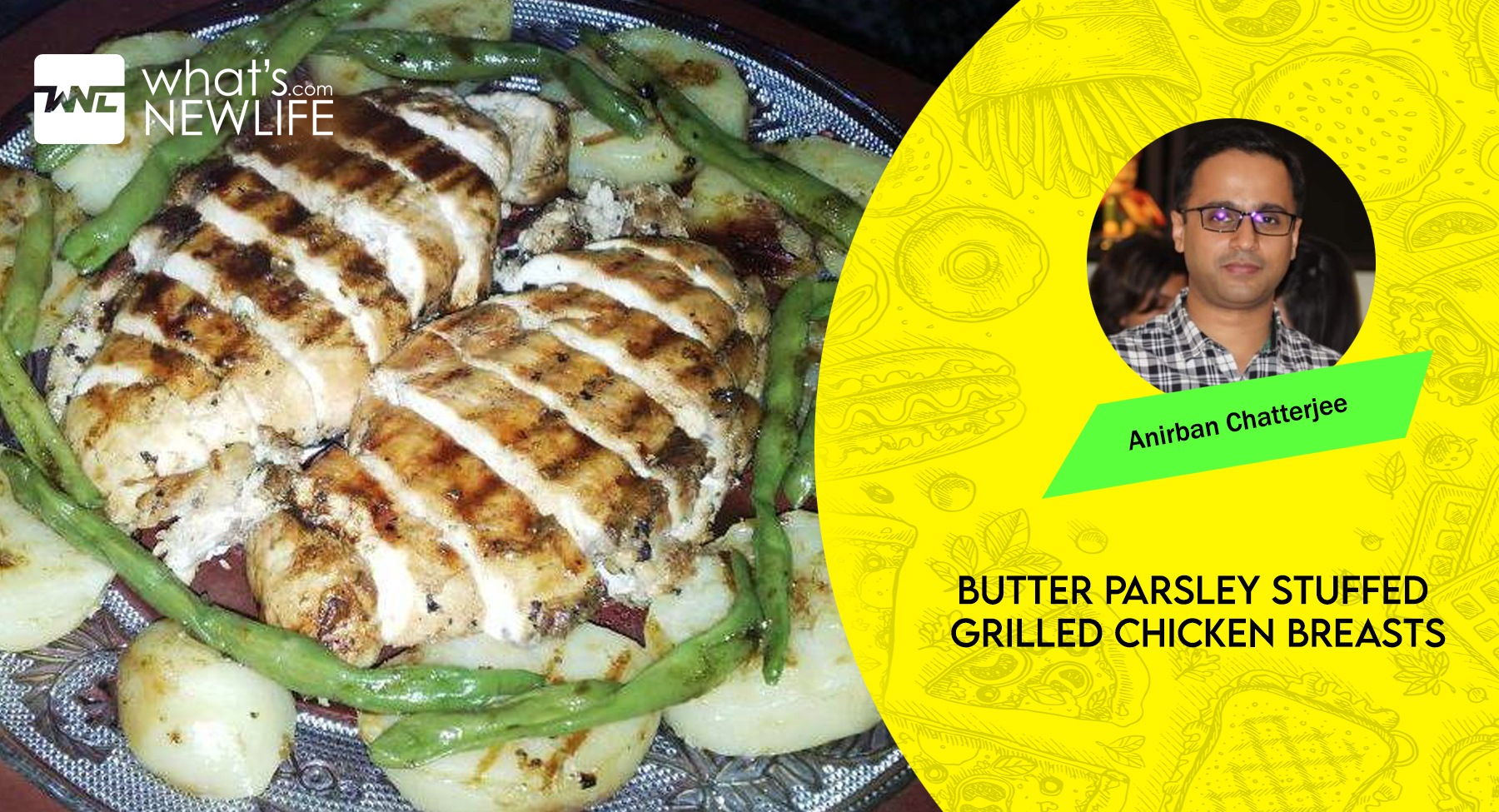 BUTTER PARSLEY STUFFED GRILLED CHICKEN BREASTS