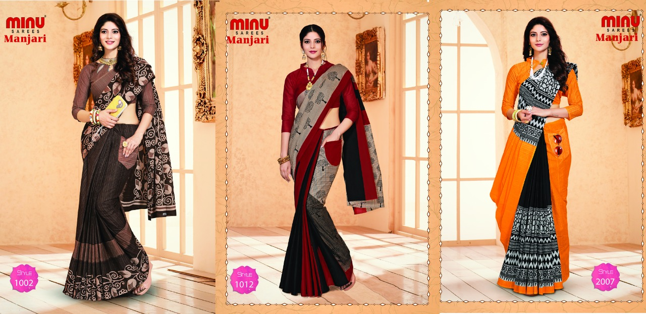 Minu Saree with Matching Masks & Pockets