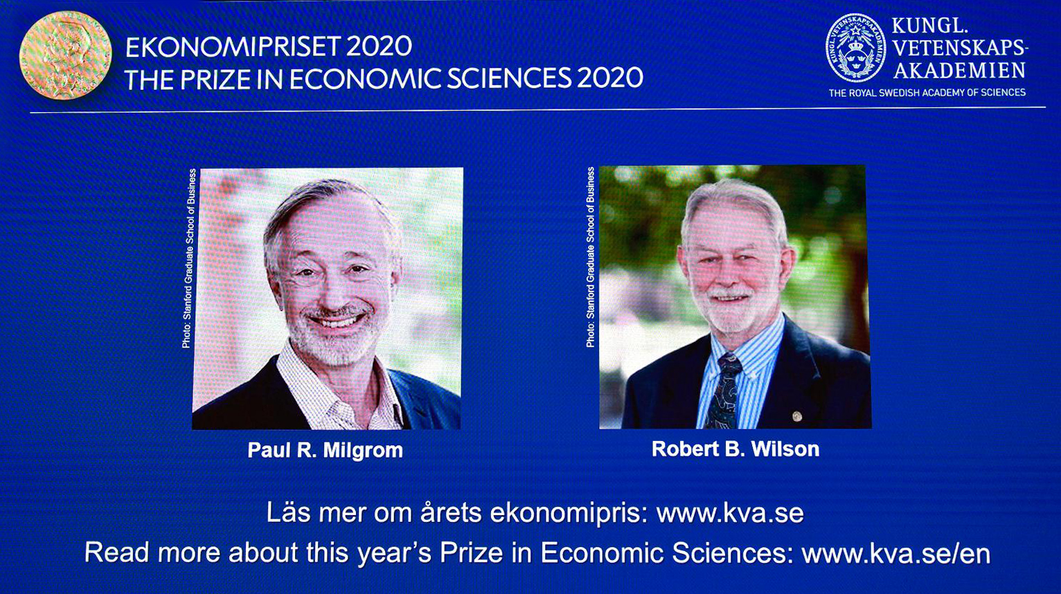 নতুন নিলাম পদ্ধতি আবিষ্কারে যৌথভাবে নোবেল পুরস্কারে ভূষিত দুই মার্কিন অর্থনীতিবিদ
