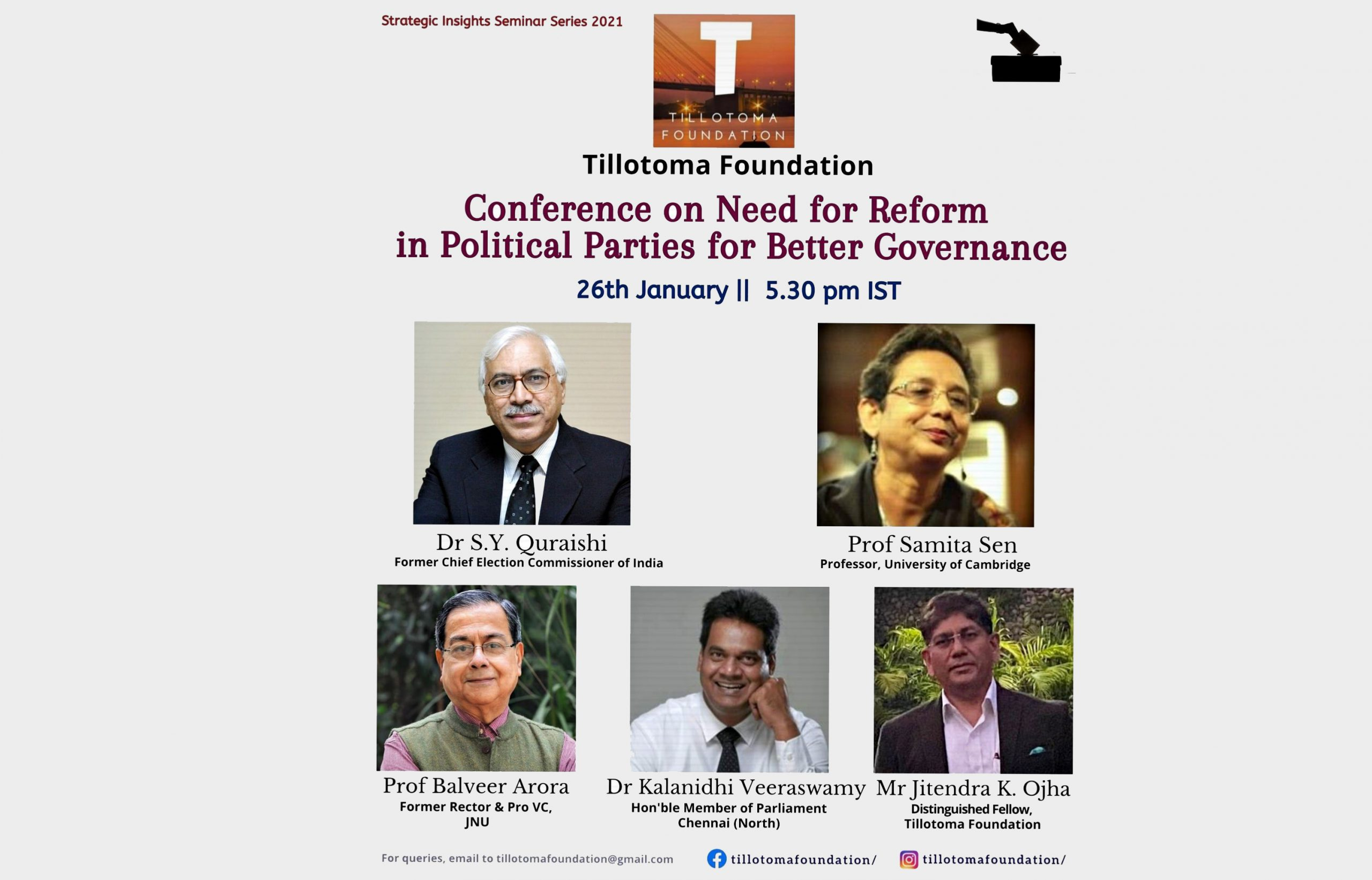 "A Discussion on ""Need for Reform in Political Parties for Better Governance"""