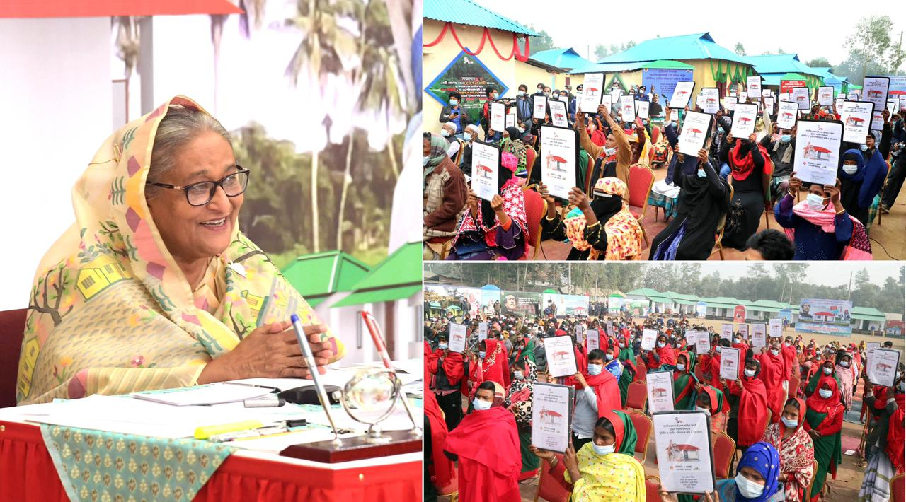 🇧🇩 PM Sheikh Hasina distributes 66,189 houses among poor