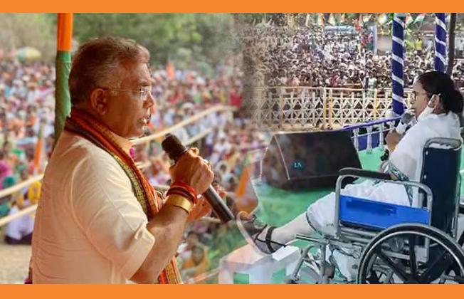 'শাড়ি কেন, বারমুডা পরতে পারেন, তৃণমূল সুপ্রিমোর ভাঙা পা নিয়ে কটাক্ষ দিলীপ ঘোষের