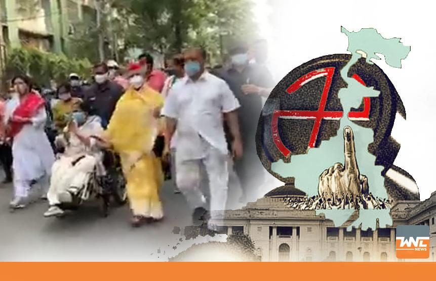 কলকাতায় মমতা ব্যানার্জীর রোড শোয় সঙ্গী জয়া বচ্চন
