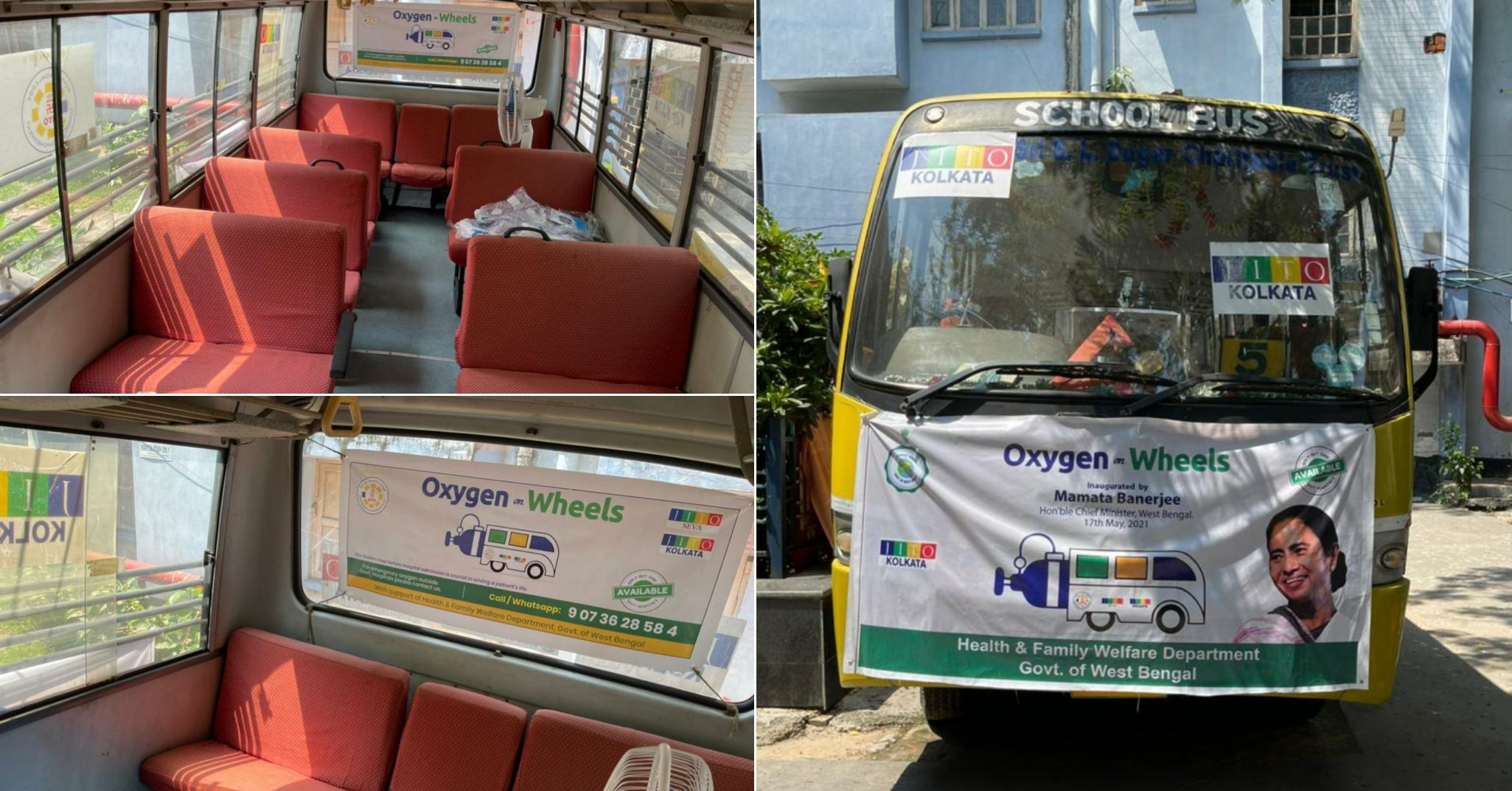 """Govt. of West Bengal supports JITO for launching Six """"Oxygen on Wheels"""" Buses"""